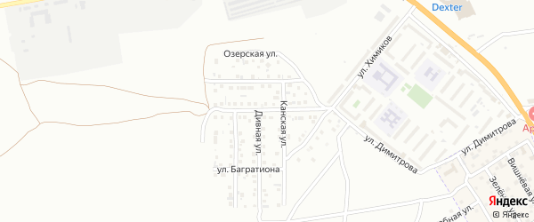Улица Блохина на карте Астрахани с номерами домов