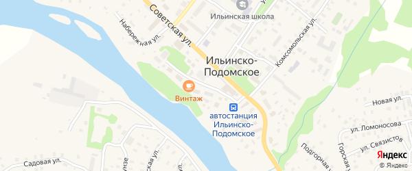 Первомайская улица на карте Ильинско-Подомского села с номерами домов