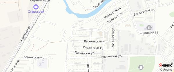 Новобадская улица на карте Астрахани с номерами домов