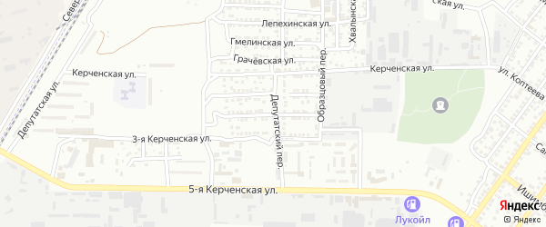 Северная 2-я улица на карте Астрахани с номерами домов