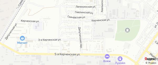 Керченская 2-я улица на карте Астрахани с номерами домов