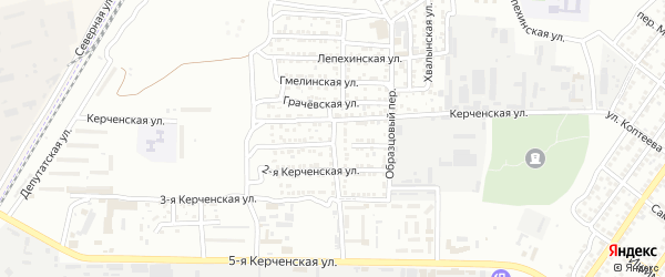 Депутатский 2-й переулок на карте Астрахани с номерами домов