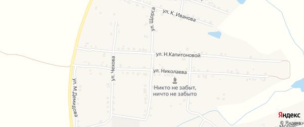Улица Щорса на карте села Мусирмы с номерами домов