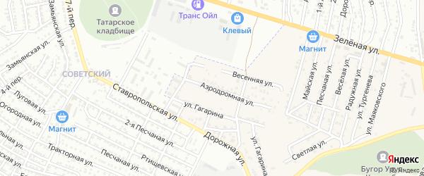 Аэродромная улица на карте села Карагали с номерами домов