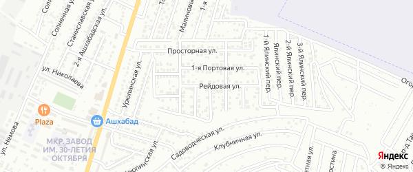 Рейдовая улица на карте Астрахани с номерами домов