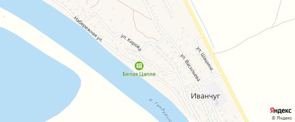 Улица Коммунаров на карте села Иванчуга с номерами домов