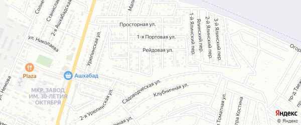 Приморский переулок на карте Астрахани с номерами домов
