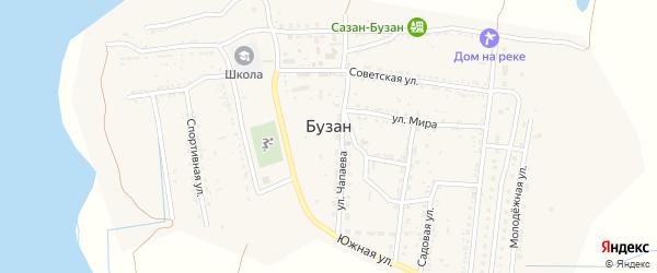 Улица Строителей на карте поселка Бузана-Пристаня с номерами домов