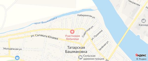 Улица Мусы Джалиля на карте села Татарской Башмаковки с номерами домов