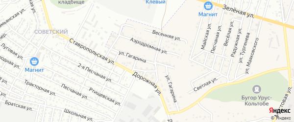 Улица Гагарина на карте села Карагали с номерами домов