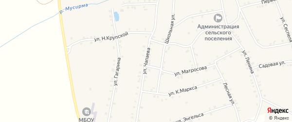 Улица Чапаева на карте села Мусирмы с номерами домов
