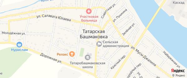 Светлая улица на карте села Татарской Башмаковки с номерами домов