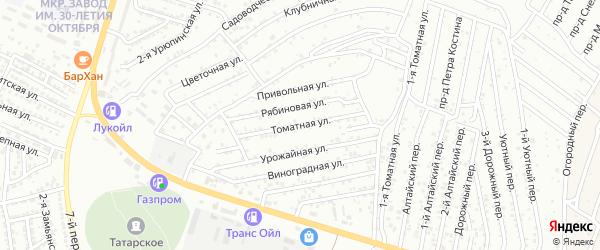 Томатная улица на карте Астрахани с номерами домов