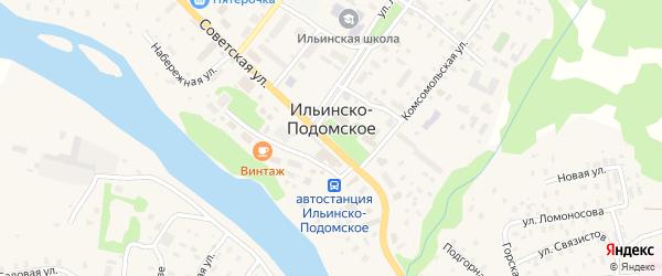 Юбилейная улица на карте Ильинско-Подомского села с номерами домов