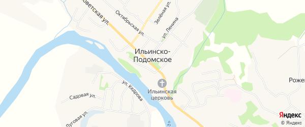Карта Ильинско-Подомского села в Архангельской области с улицами и номерами домов