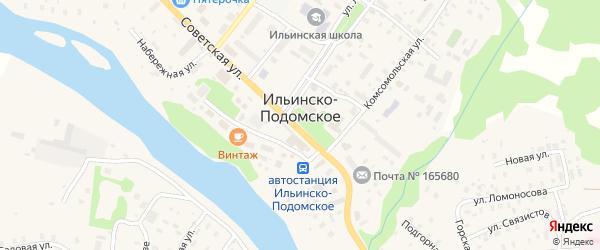 Улица Фрунзе на карте Ильинско-Подомского села с номерами домов