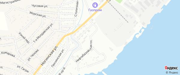 Нефтебазовская площадь на карте Астрахани с номерами домов