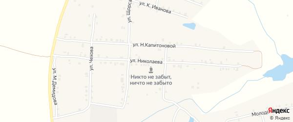 Улица Николаева на карте села Мусирмы с номерами домов
