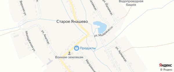 Улица Майракасси на карте деревни Старое Янашево с номерами домов