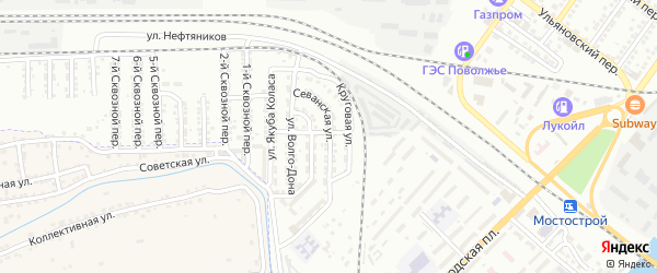 Севанская улица на карте Астрахани с номерами домов