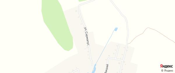 Улица Сирмапус на карте деревни Шанар с номерами домов
