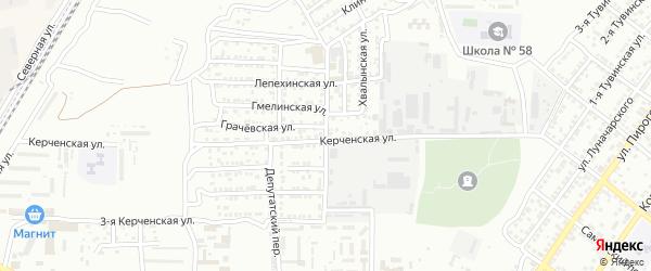 Образцовый переулок на карте Астрахани с номерами домов