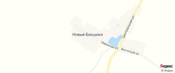 Восточная улица на карте деревни Новые Бикшики с номерами домов