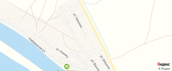 Улица Шашина на карте села Иванчуга с номерами домов