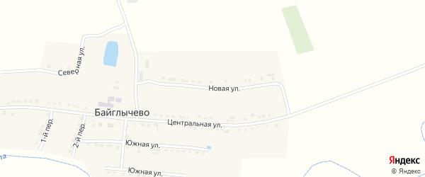 Новая улица на карте села Байглычево с номерами домов