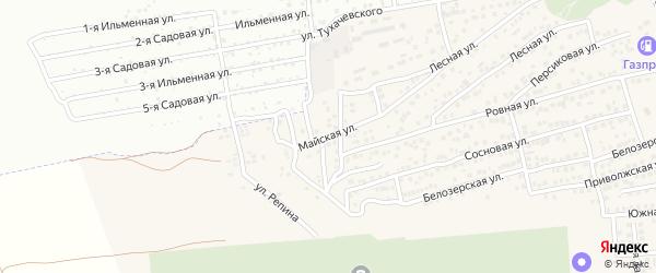 Майская улица на карте села Солянки с номерами домов