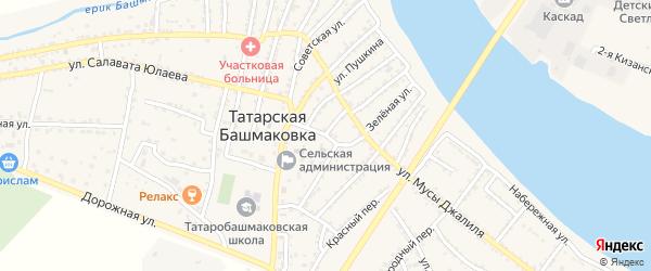 Улица Гоголя на карте села Татарской Башмаковки с номерами домов