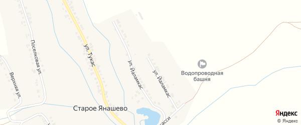 Улица Йаламкас на карте деревни Старое Янашево с номерами домов