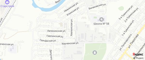 Лепехинская улица на карте Астрахани с номерами домов