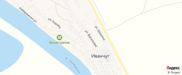 Улица Васильева на карте села Иванчуга с номерами домов