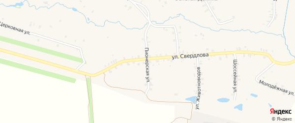 Пионерская улица на карте деревни Старые Урмары с номерами домов