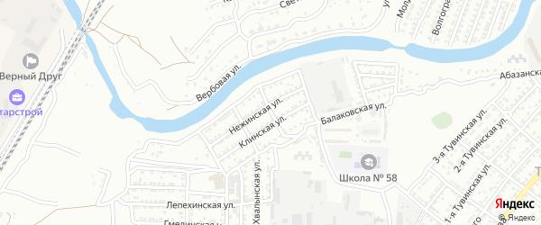 Таллинская улица на карте Астрахани с номерами домов