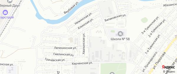 Образцовый 2-й переулок на карте Астрахани с номерами домов