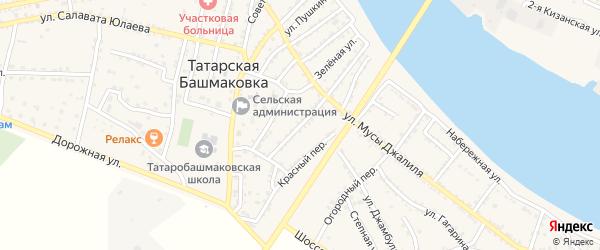 Улица Маяковского на карте села Татарской Башмаковки с номерами домов