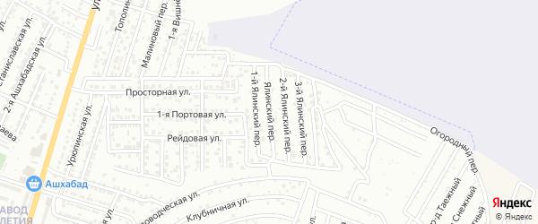 Ароматный 1-й переулок на карте Астрахани с номерами домов