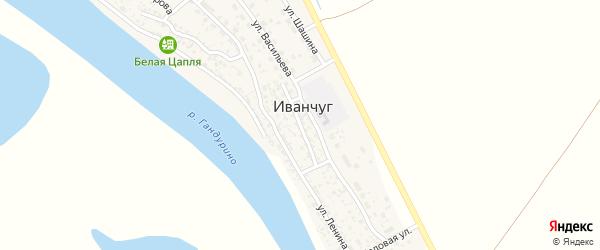 Комсомольская улица на карте села Иванчуга с номерами домов