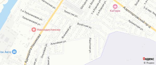 Свободная 1-я улица на карте Астрахани с номерами домов