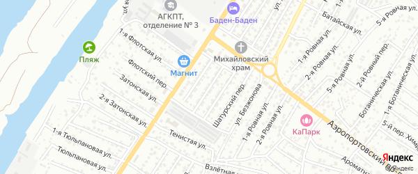 Переулок Кулибина на карте Астрахани с номерами домов