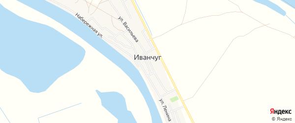 Карта села Иванчуга в Астраханской области с улицами и номерами домов