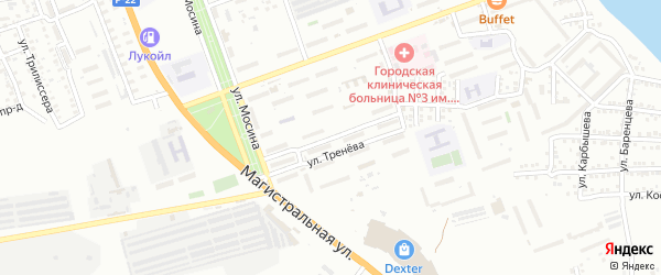 Улица Вячеслава Мейера на карте Астрахани с номерами домов