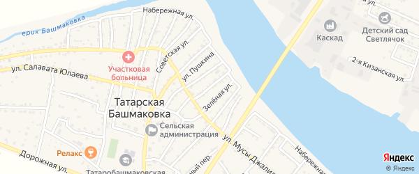 Колхозная улица на карте села Татарской Башмаковки с номерами домов