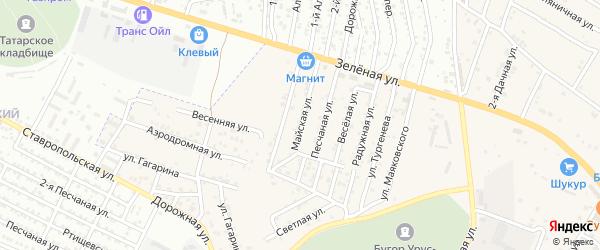 Майская улица на карте села Карагали с номерами домов