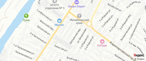 Переулок Адмирала Макарова на карте Астрахани с номерами домов