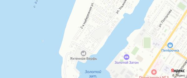 Ульяновский 13-й переулок на карте Астрахани с номерами домов