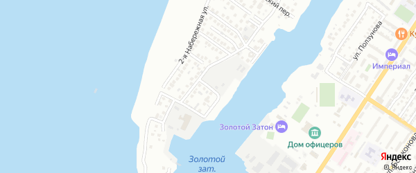 Березовый 13-й переулок на карте Астрахани с номерами домов