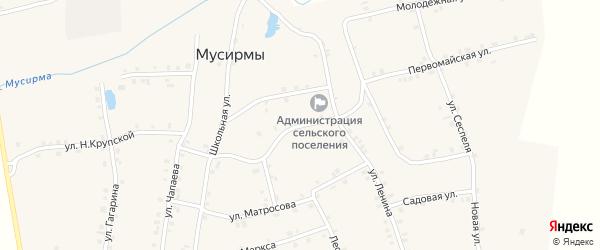 Ключевая улица на карте села Мусирмы с номерами домов
